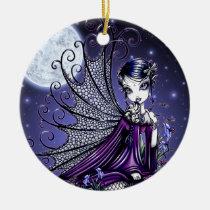 maggy, moon, fairy, gothic, tattoo, fantasy, faery, faerie, fae, big, eyed, myka, jelina, art, mika, faeries, Ornament with custom graphic design
