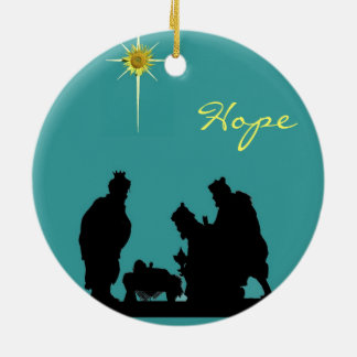 Magi Hope Christmas Ceramic Ornament