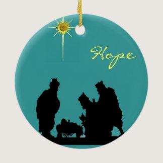 Magi Hope Christmas Ceramic Ornament
