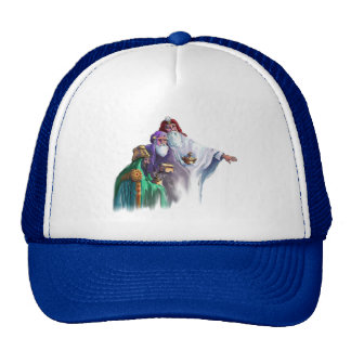 MAGI KINGS WISEMEN by SHARON SHARPE Mesh Hat