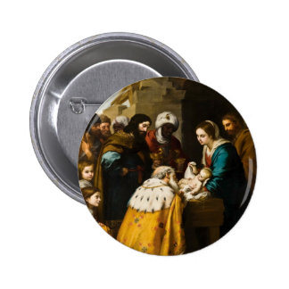 Magi Present Jesus Gifts Pinback Button