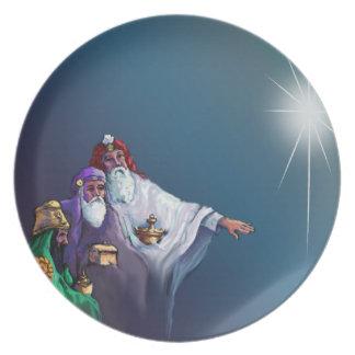 MAGI THREE WISEMEN & STAR by SHARON SHARPE Melamine Plate
