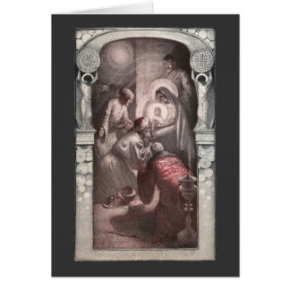 Magi Visiting Christ with Gifts Greeting Cards