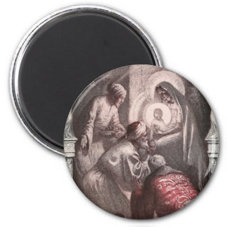 Magi Visiting Christ with Gifts Magnet