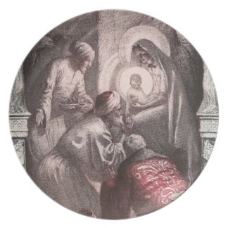 Magi Visiting Christ with Gifts Party Plate