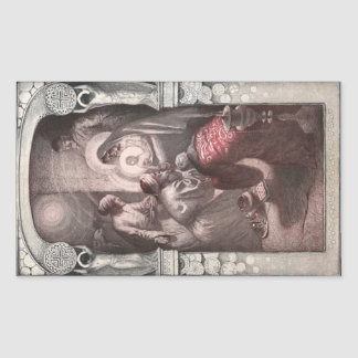 Magi Visiting Christ with Gifts Rectangular Sticker