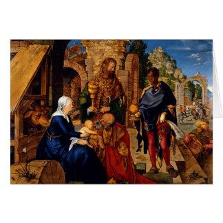 Magi Worship Baby Jesus Card