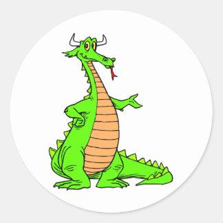 Magia 44 del dragón etiquetas redondas