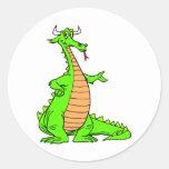 Magia 44 del dragón pegatina redonda