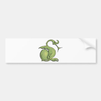 Magia 6 del dragón pegatina de parachoque