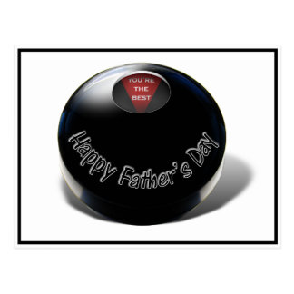 Magia 8-Ball (usted del día de padre es el mejor) Postal