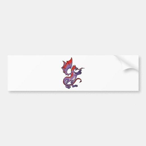 Magia 8 del dragón etiqueta de parachoque