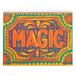 Magia anaranjada calendarios