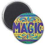 Magia azul imán redondo 5 cm