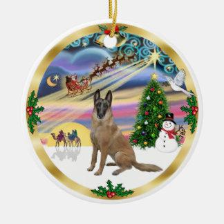 Magia-Belga Malinois1r de Navidad Ornamentos De Navidad