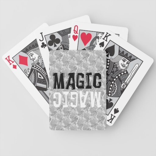 Magia blanco y negro cartas de juego