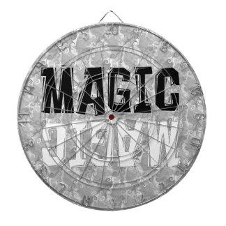 Magia blanco y negro tablero de dardos