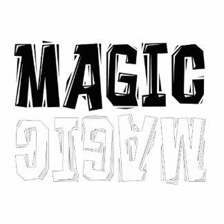 Magia blanco y negro fotoescultura vertical