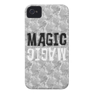 Magia blanco y negro iPhone 4 Case-Mate protectores