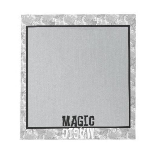 Magia blanco y negro libreta para notas