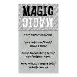 Magia blanco y negro tarjetas de visita