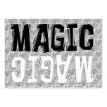 Magia blanco y negro tarjetas de visita grandes