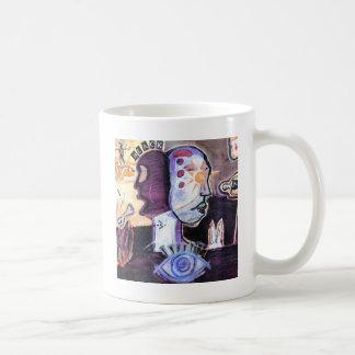 Magia blanco y negro taza clásica