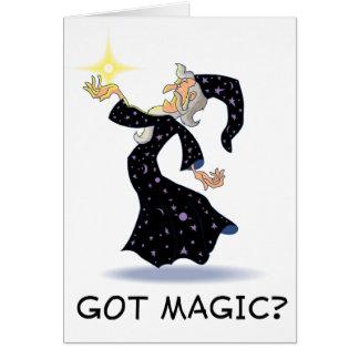 ¿Magia conseguida? Tarjeta De Felicitación