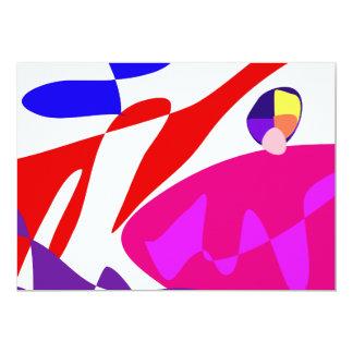 """Magia de encargo del color de fondo invitación 5"""" x 7"""""""
