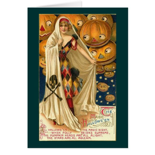 Magia de Halloween Tarjeta De Felicitación