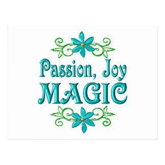 Magia de la alegría de la pasión tarjetas postales