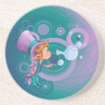 Magia de la burbuja posavasos personalizados