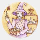 Magia de la cocina pegatina redonda