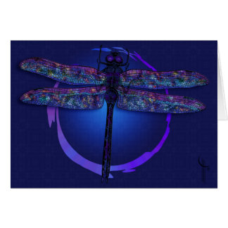Magia de la libélula tarjeta de felicitación