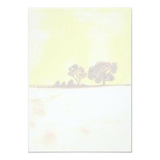 """Magia de la niebla del otoño invitación 5"""" x 7"""""""