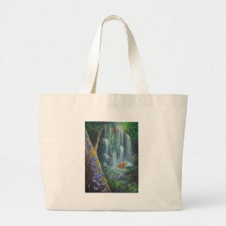 Magia de la selva tropical bolsa tela grande