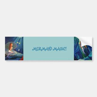 Magia de la sirena - pegatina para el parachoques pegatina para auto