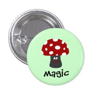 Magia de Mushroon Pin Redondo 2,5 Cm