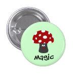 Magia de Mushroon Pin Redondo De 1 Pulgada