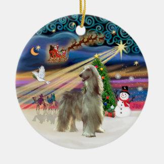 Magia de Navidad - afgano (soporte) Adornos De Navidad