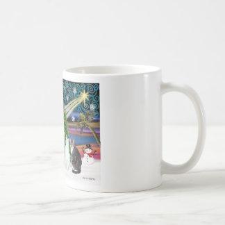 Magia de Navidad - cinco gatos (AmSH) Tazas De Café