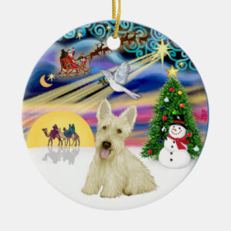 Magia de Navidad - escocés Terrier de trigo Adornos
