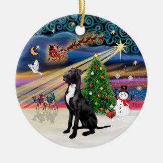 Magia de Navidad - great dane (negro-natural) Ornamentos De Reyes Magos