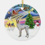 Magia de Navidad - llama del bebé Adorno Navideño Redondo De Cerámica