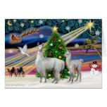 Magia de Navidad - mamá Llama y bebé Felicitacion