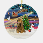 Magia de Navidad - miel Brown cocker spaniel Ornamentos De Reyes Magos