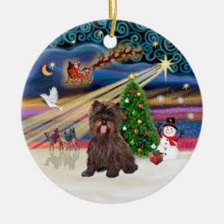 Magia de Navidad - mojón Terrier Brindle #18 Ornaments Para Arbol De Navidad