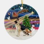 Magia de Navidad - pastor alemán 13 Ornaments Para Arbol De Navidad