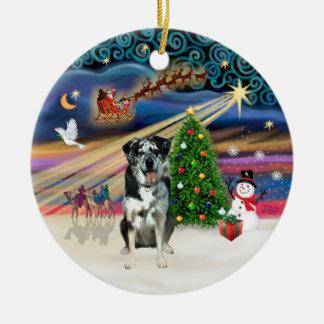 Magia de Navidad - perro del leopardo de Catahoula Adornos