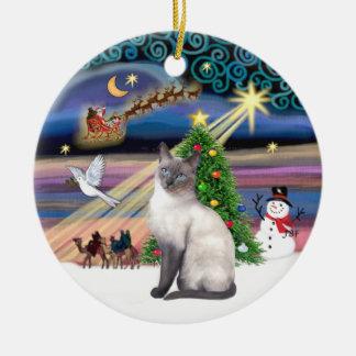 Magia de Navidad - punto azul siamés Ornatos